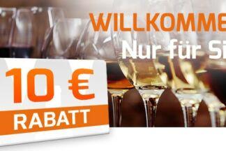 Weinvorteil: 10 Euro Rabatt